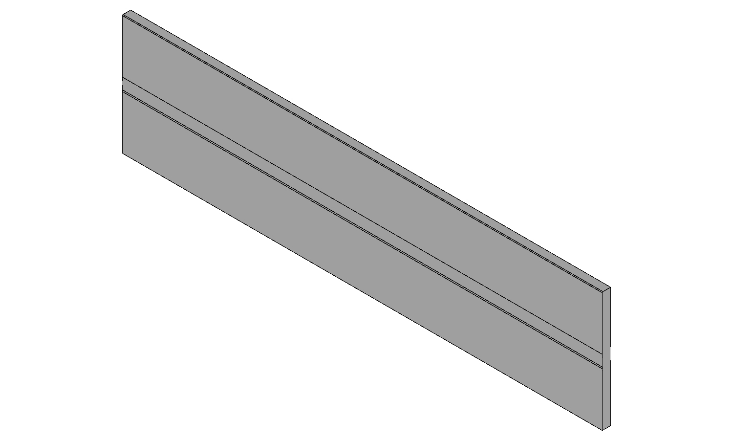 Blum Antaro / Intivo cross divider to suit 600mm cabinet, metallic grey