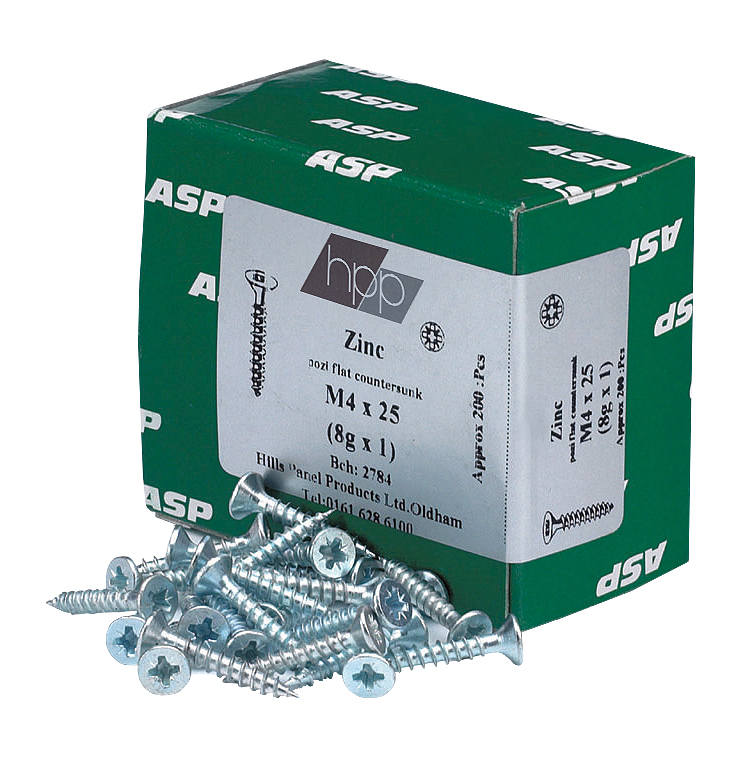 Zinc screws 4 x 1/2 (3 x 12mm)
