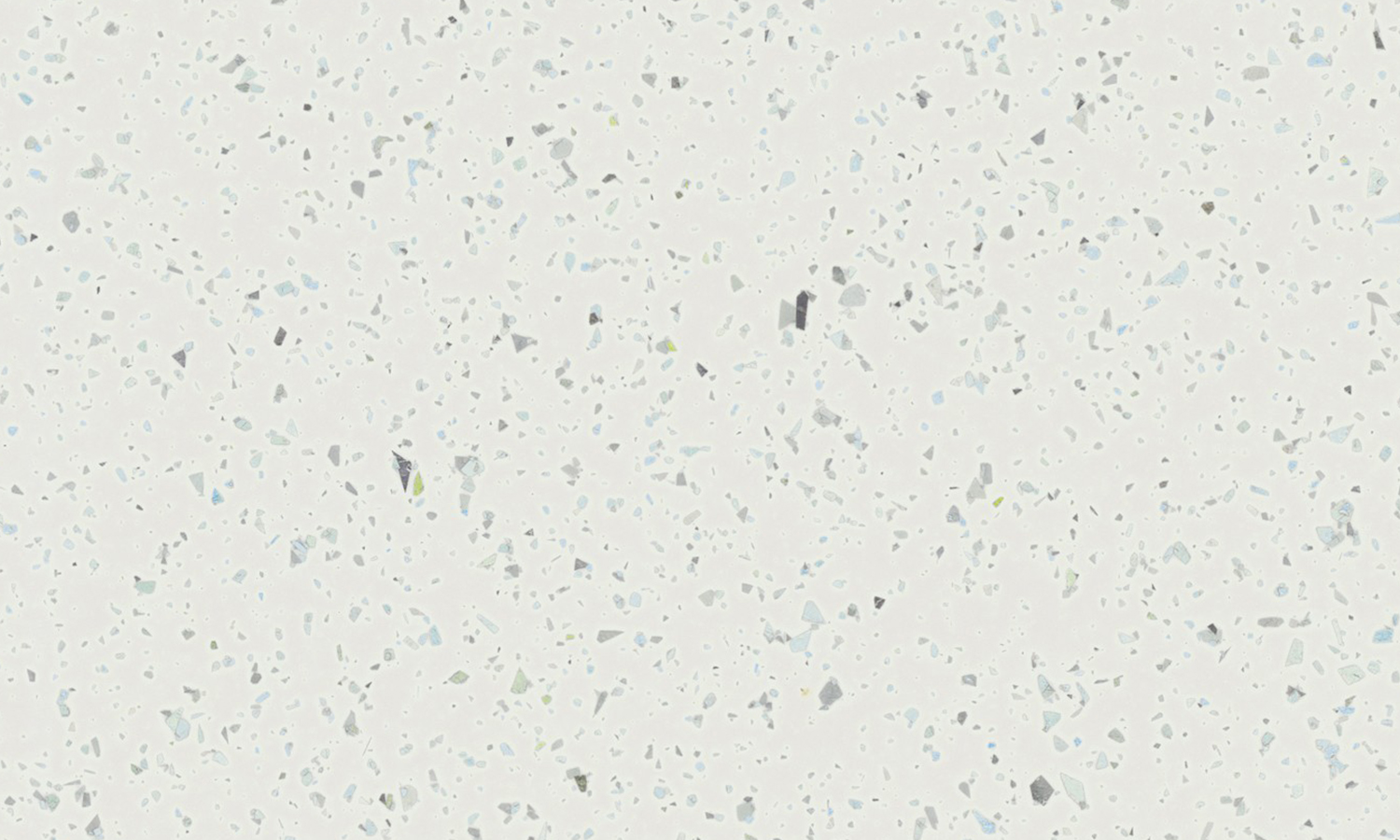 Synergii Worktop Strasse Blanc / Snow Sparkle 3000 x 665 x 38mm Square Lam Edge