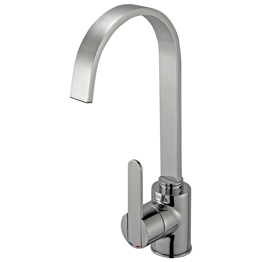Reginox Amur Tap Single Lever Brushed Nickel, includes fixing kit