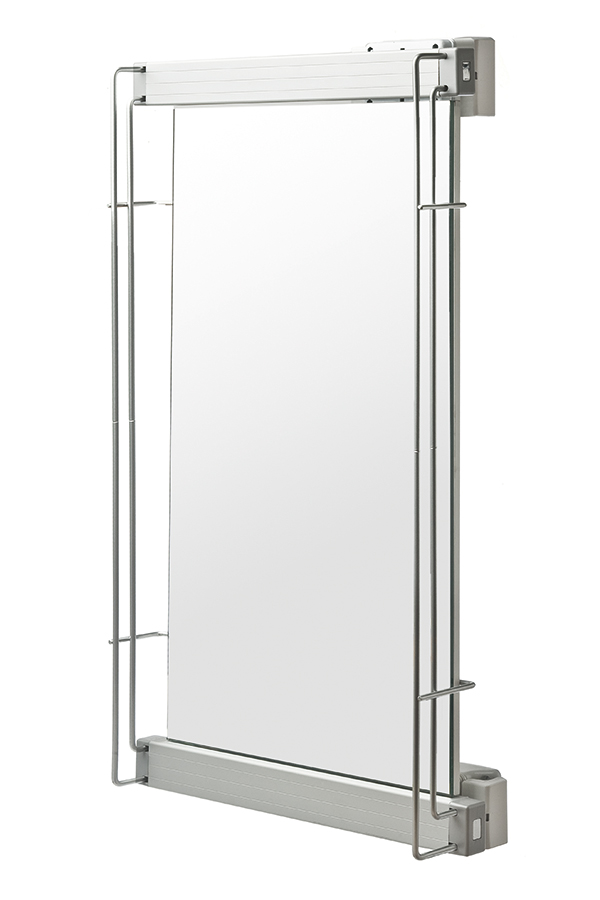 Elite Pull out pivoting mirror, White