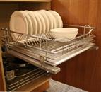 Wirework. Chrome Drawer & Plate Rack 600mm Full Extension Integrated Blumotion