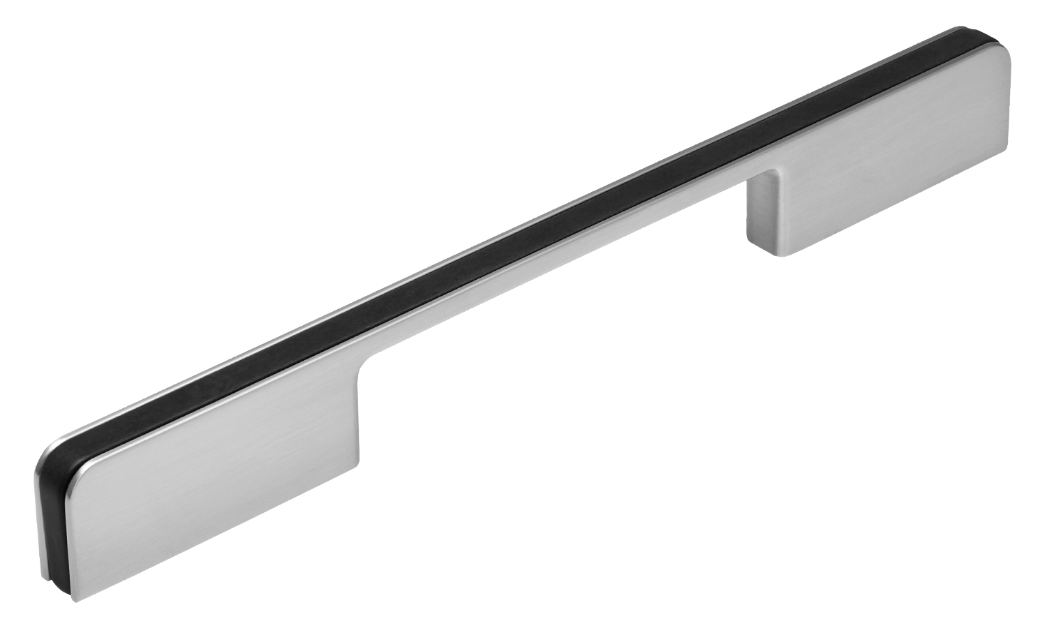 Zwilling Handle, 160mm, Brushed Nickel / Carbon Centres
