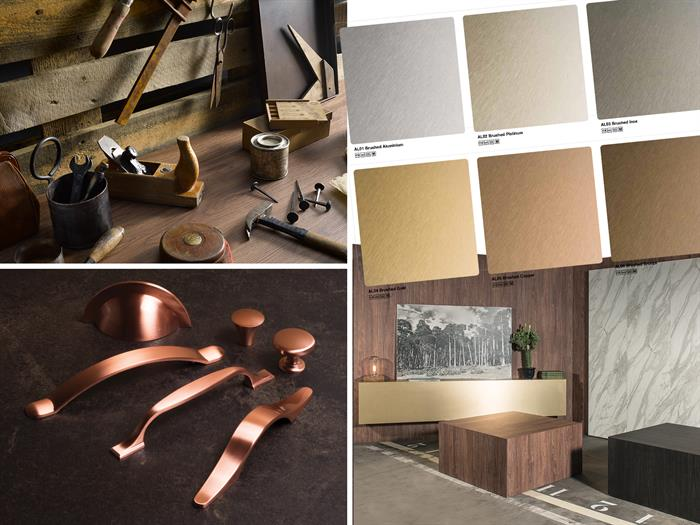 Metallic materials and finishes in the home - how the trends are changing