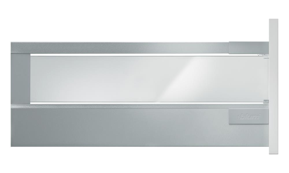 Pan Drawer with Glass Design Element