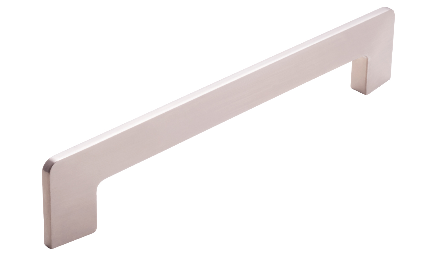 Edge Handle, Brushed Nickel, 160mm centres