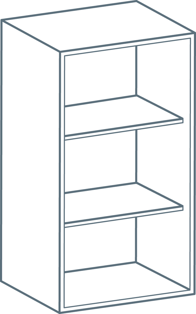 450 x 720mm Wall Unit Carcass in Light Grey (Flat Pack)