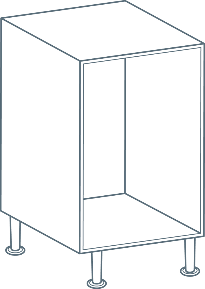 500mm Drawer Base Unit Carcass in White (Flat Pack)