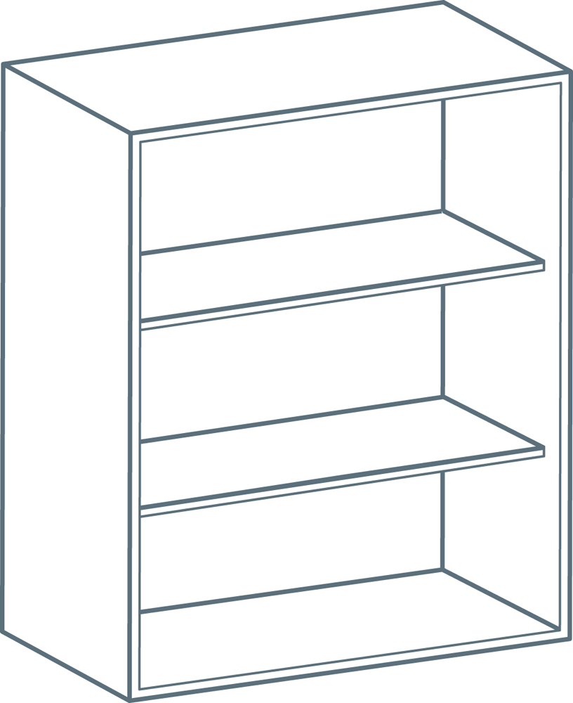 600 x 900mm Wall Unit Carcass in White (Flat Pack)