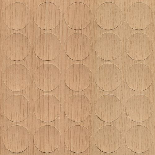 Self-adhesive cover cap, Light Sorano Oak, 14mm (25 per sheet)