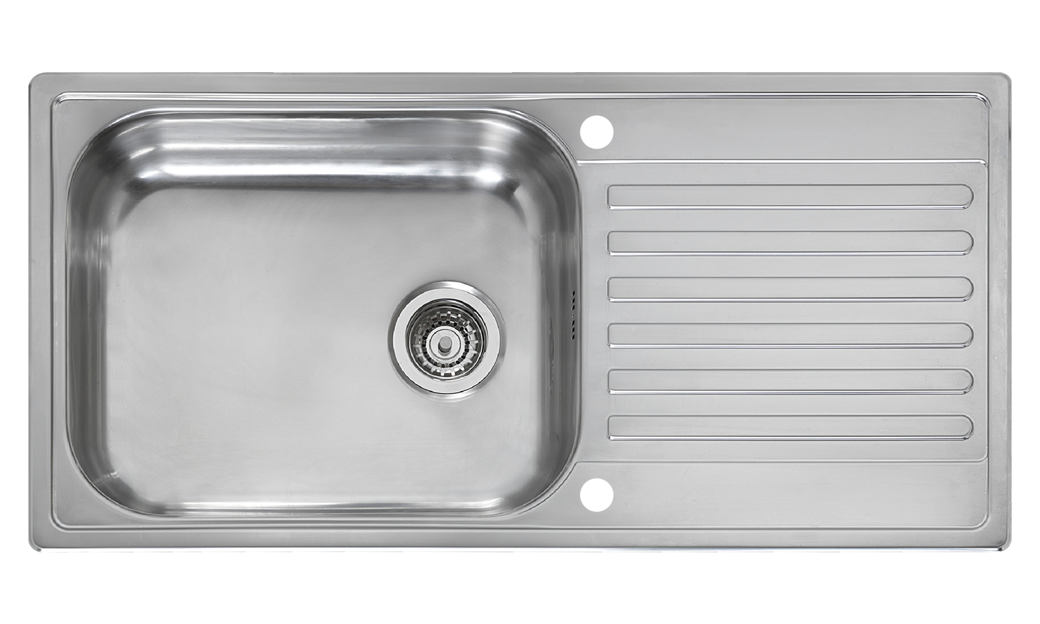 Minister single bowl inset sink with drainer