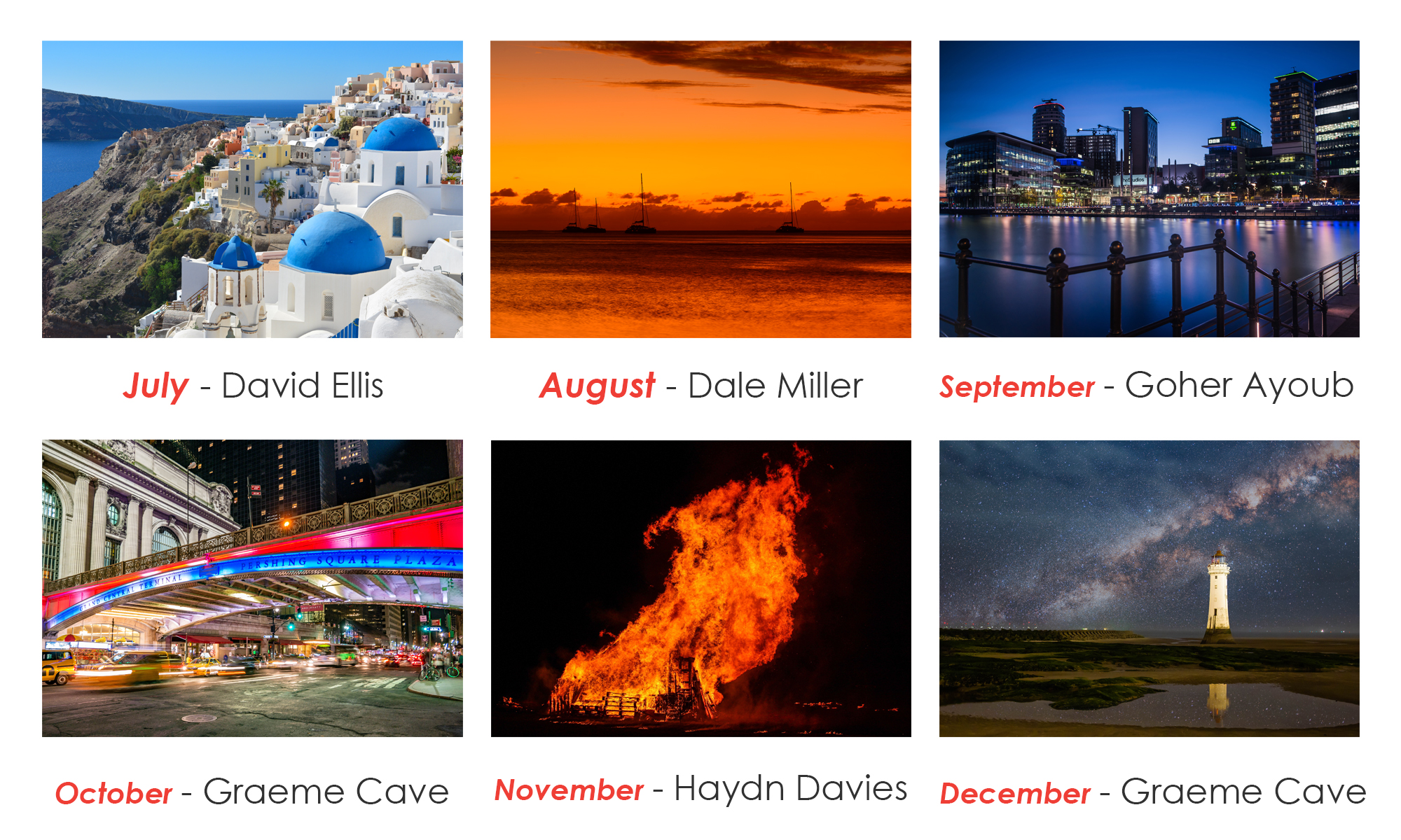 2019 Calendar Competition: And the winners are...