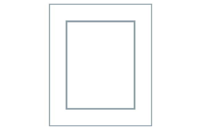 Avanti Alto 22mm Door, Matt Porcelain 570 x 296mm