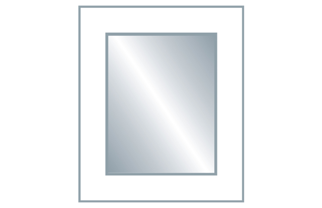 Avanti Alto 22mm Glazed Frame Door (Clear Glass), Matt Porcelain 715 x 596mm