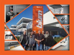HPP Team Visits Fittings Specialist Blum in Austria