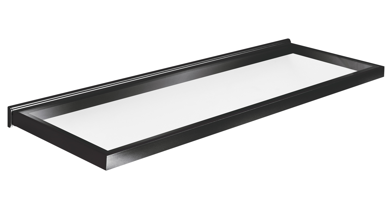 Sensio Torino Illuminated Glass Shelf 900mm Black