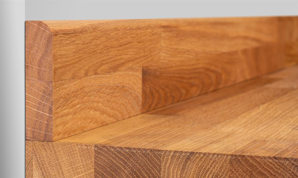 Solid Oak Upstand