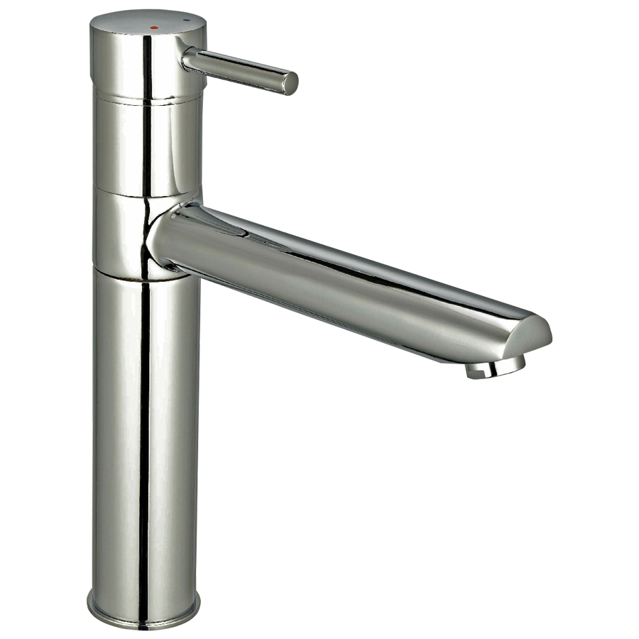 Reginox Hudson Tap Single Lever Brushed Nickel, includes fixing kit