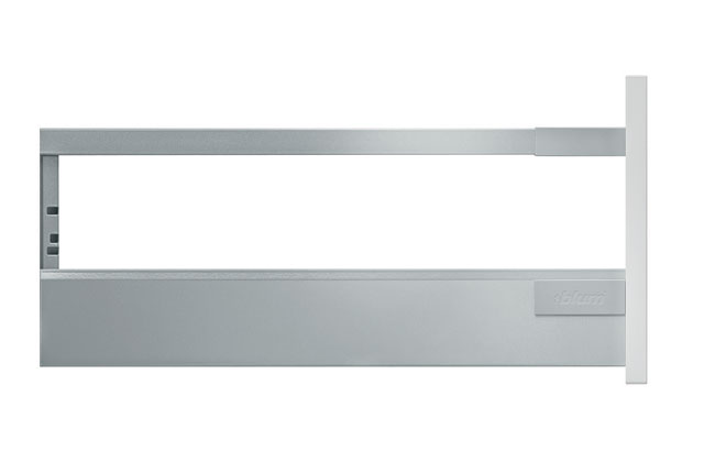 Blum Antaro Tandembox D-Height (450mm) Gallery Rail | Metallic Grey | 50kg