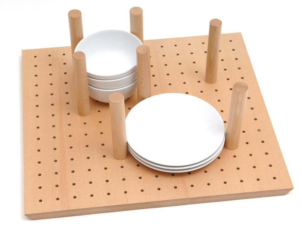 Crockery peg board for 1000mm cabinet using Tandembox