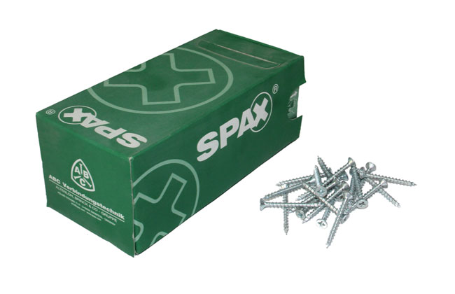 "Spax Screws | Zinc | 6 x 1"" (3.5 x 25mm)"