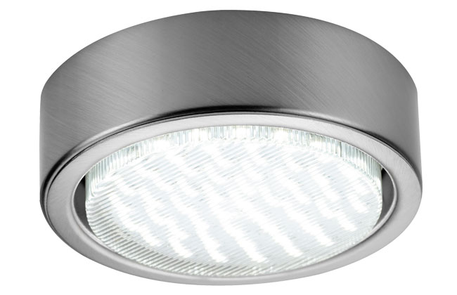 Sensio GX53 LED Surface Light Inc 50 Diode LED Cool White Stainless Steel