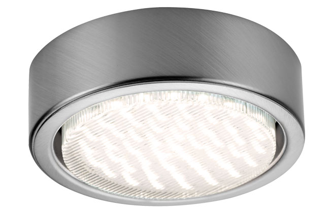 Sensio GX53 LED Surface Light Inc 50 Diode LED Warm White Stainless Steel