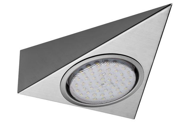 Sensio LED GX53 Tri light Inc 50 Diode - Steel - Cool White Stainless Steel