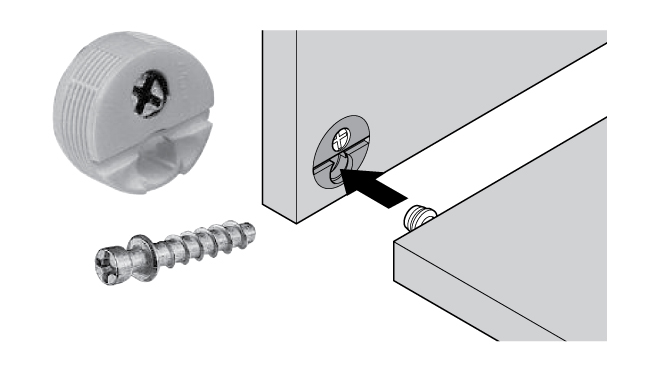 Blum Knock In Housing And Edge Mounted Screw Connector In