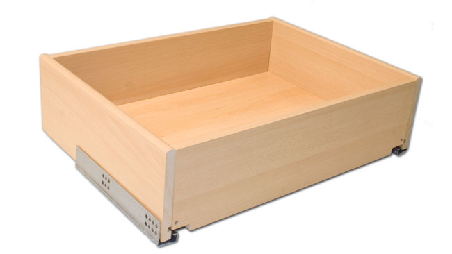 Bedroom drawer with blumotion runners 300 x 400 x 147mm (w d h), beech