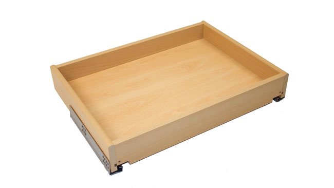 Bedroom drawer with blumotion runners 1000 x 400 x 82mm (w d h),  beech