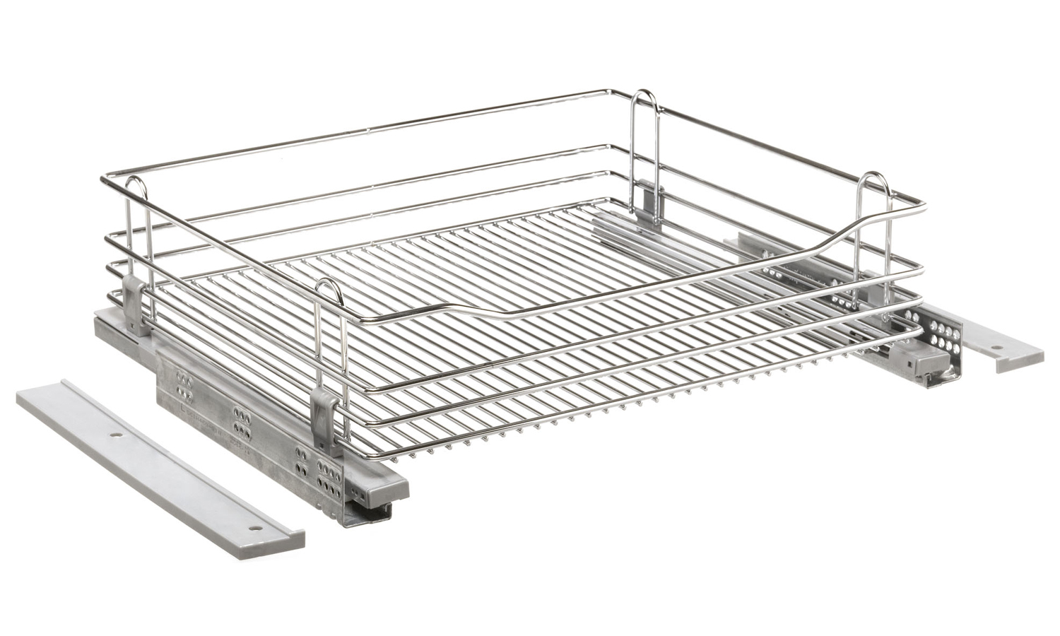 Wirework. Chrome Wire Drawer 600mm With Integrated Soft Close and Door Brackets