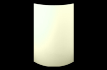 High Gloss Cream Vienna Curved Doors