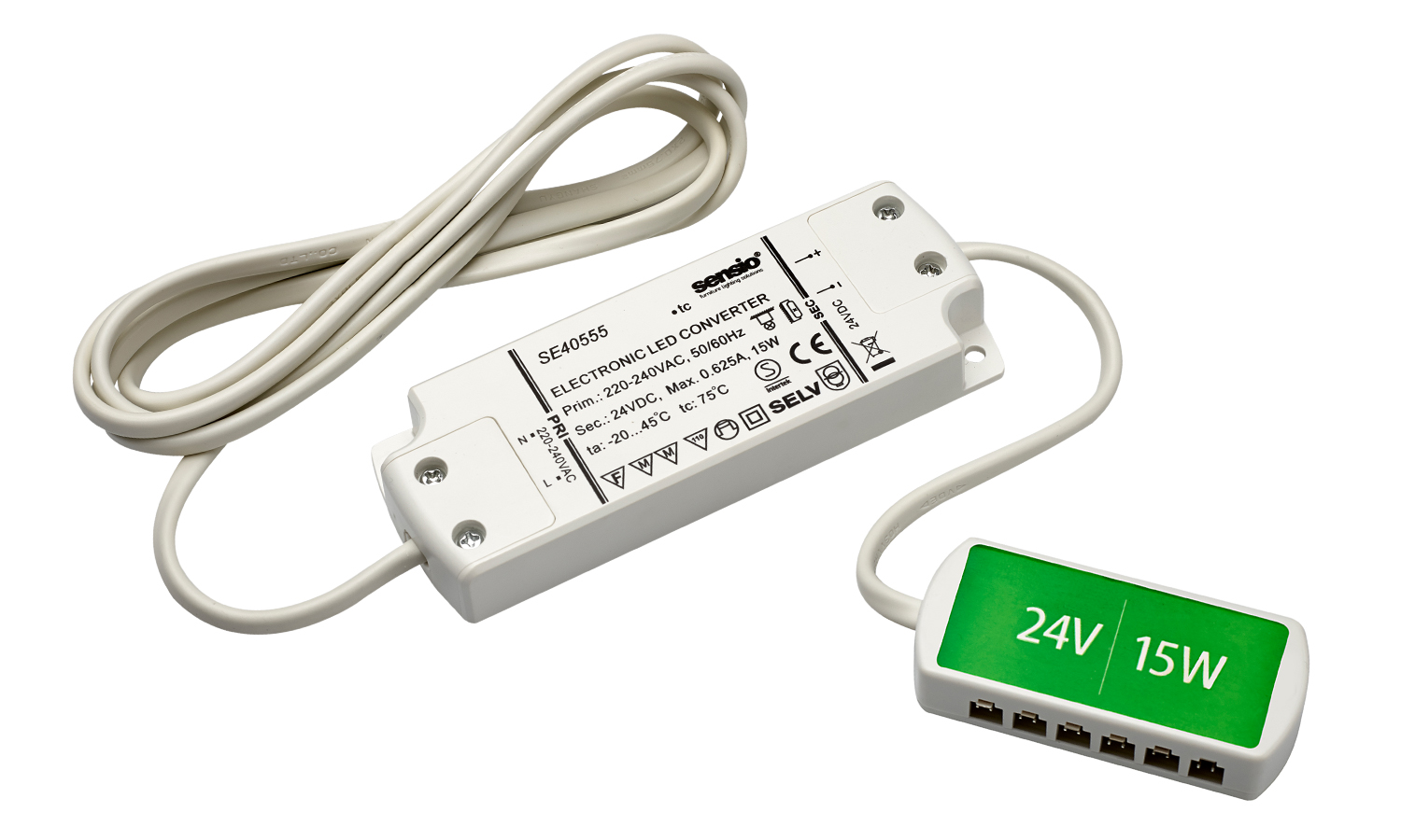 HD LED Driver, 6 port, 15W. (Can be used for 24 Volt applications)