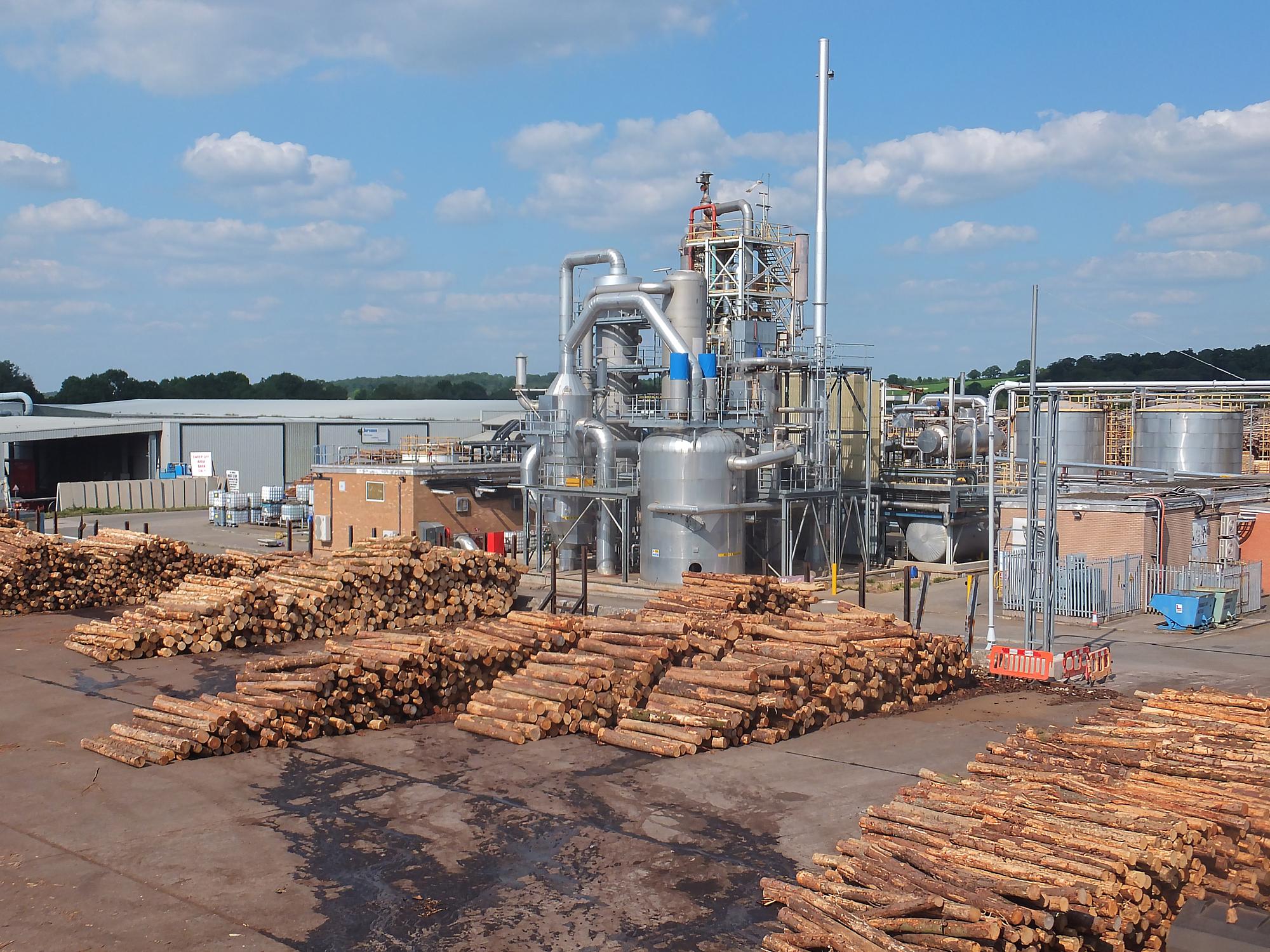 Kronospan Chirk timber yard